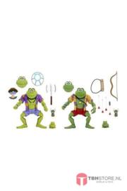 PRE-ORDER Teenage Mutant Ninja Turtles Action Figure 2-Pack Genghis & Rasputin Frog 18 cm