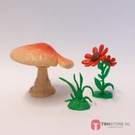 Smurfen 40060 Paddestoelen speelset (rode bloemen)