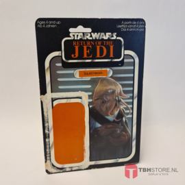 Vintage Star Wars Cardback Squid Head ROTJ