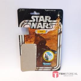 Vintage Star Wars Cardback Jawa 20 back
