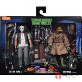 Teenage Mutant Ninja Turtles (TMNT) 2-Pack Casey Jones & Raphael in Disguise 18 cm