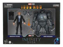 The Infinity Saga Marvel Legends Obadiah Stane & Iron Monger (Iron Man)