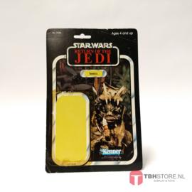Vintage Star Wars Cardback Teebo ROTJ 79 back