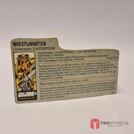 G.I Joe Cardbacks & File cards