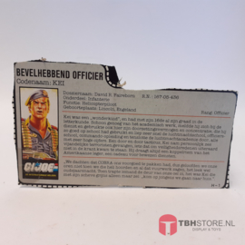G.I. Joe File Card Bevelhebbend Officier