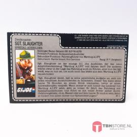 G.I. Joe File Card Sgt. Slaughter