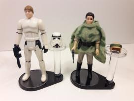 Vintage Star Wars Figure + Helmet Stand