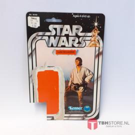 Vintage Star Wars Cardback Luke Skywalker 12 back