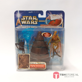 Star Wars Attack of the Clones Flying Geonosian with Sonic Blaster and Attack Pod!