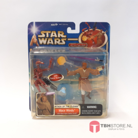 Star Wars Attack of the Clones Mace Windu with Force Power Attack