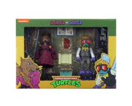 PRE-ORDER Teenage Mutant Ninja Turtles 2-Pack Splinter & Baxter