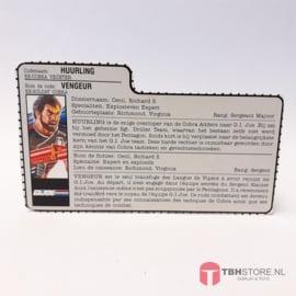 G.I. Joe File Card Huurling