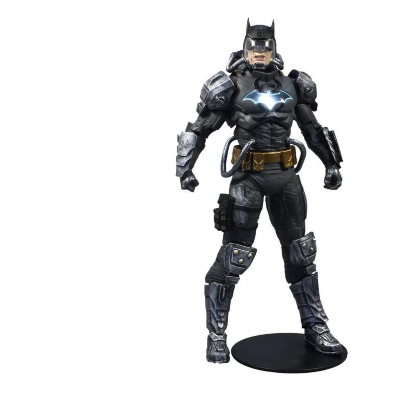 PRE-ORDER DC Multiverse  Batman Hazmat Suit Gold Label Light Up Batman Symbol