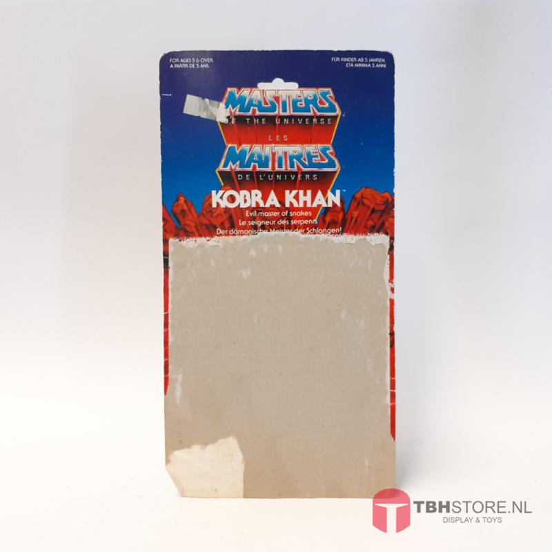 MOTU Masters of the Universe Cardback Kobra Khan
