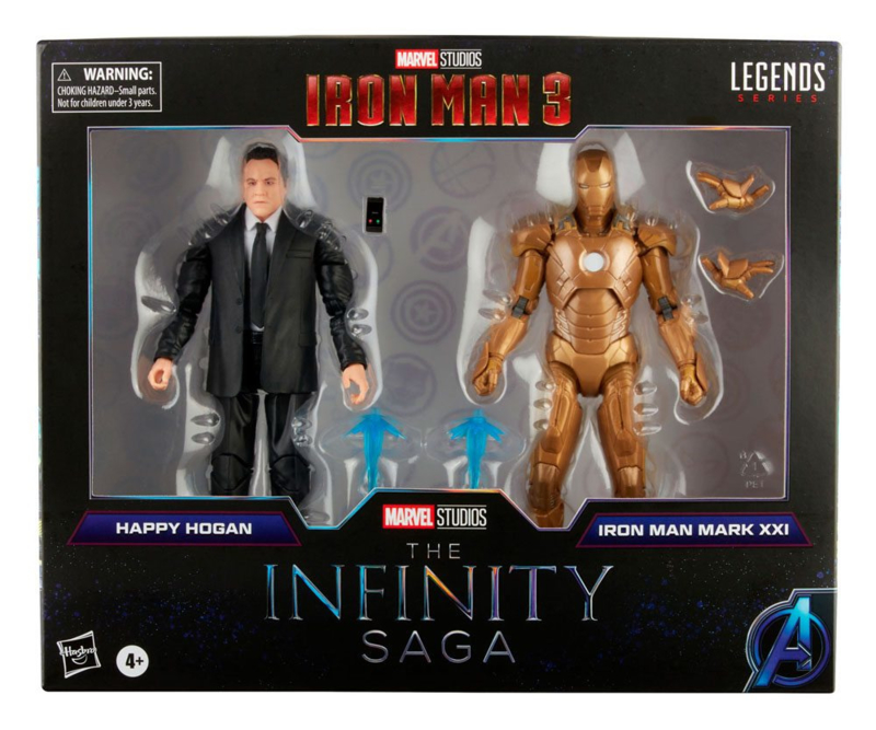 PRE-ORDER The Infinity Saga Marvel Legends Action Figure 2-Pack 2021 Happy Hogan & Iron Man (Iron Man 3)