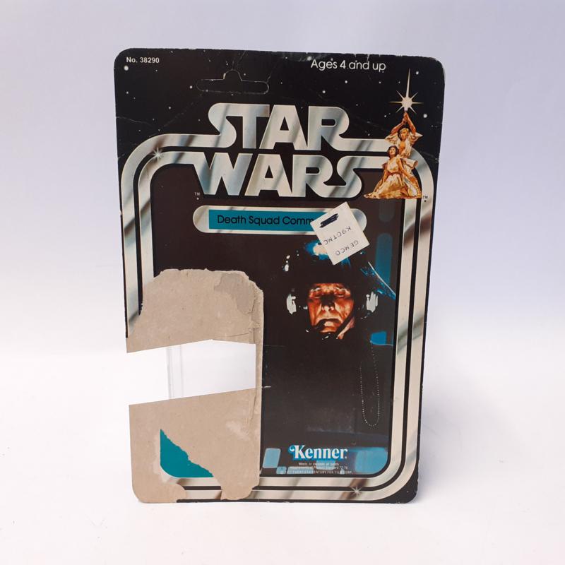 Vintage Star Wars Cardback Death Squad Commander 21 back