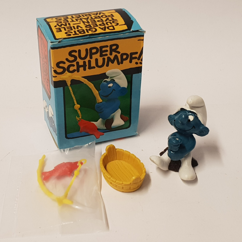Smurfen 40207 Go Angler Smurf in box