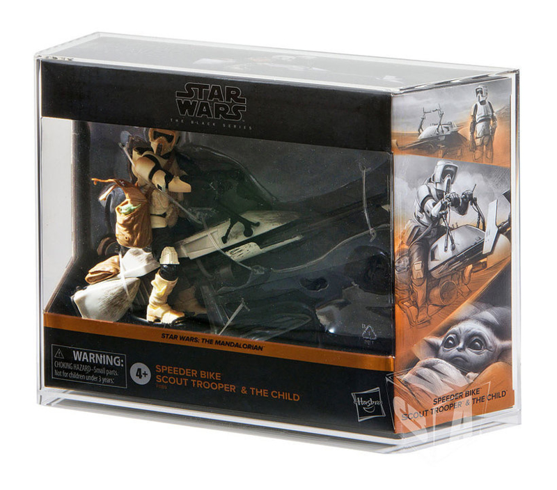 PRE-ORDER Star Wars Black Series Scout Trooper and The Child Display Case