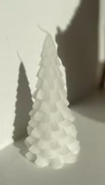 Kerstboom kaars wit 20cm