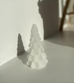 Kerstboom kaars wit 12cm