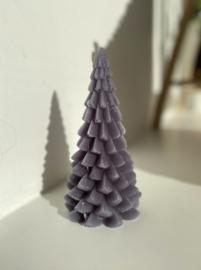 Kerstboom kaars grijs 20cm