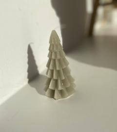 Kerstboom kaars groen 12cm