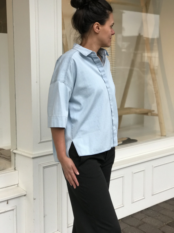 Therry blouse blauw