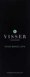 Visser Chocolade - Puur Brazil 67%