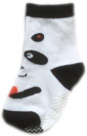 Antislip Sokken Wit en zwart met pandabeer
