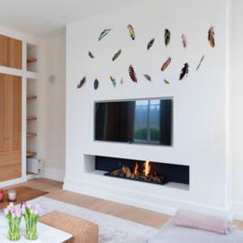 Muursticker Vogelveren in verschillende kleuren 85 x 195cm