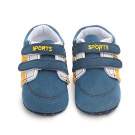 Blauwe Sneakers met klittenband