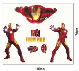 Muursticker Iron Man 100 x 76cm
