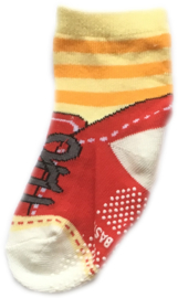 Antislip Sokken Rood met Geel