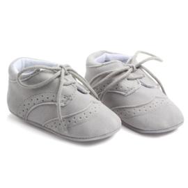 Grijs leren schoenen