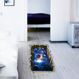 Muursticker Sterren en Planeten 90 x 60cm