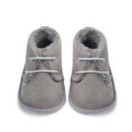 Grijs gewatteerde schoenen