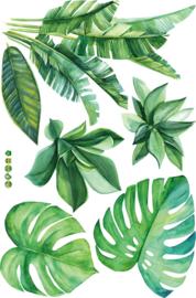 Muursticker Groene Bladeren/Planten 115 x 78cm