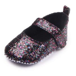 Zwarte glitter ballerina's