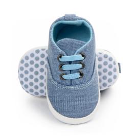 Blauwe Sneakers met elastische veters