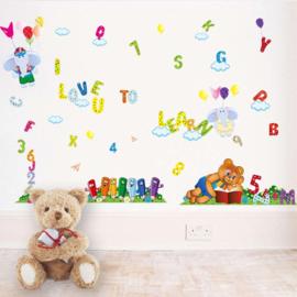 Muursticker Love to Learn 150 x 85 cm