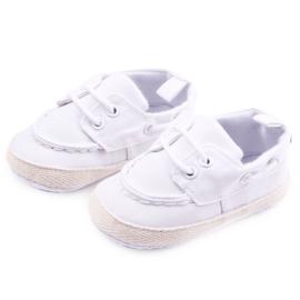 Witte bootschoenen