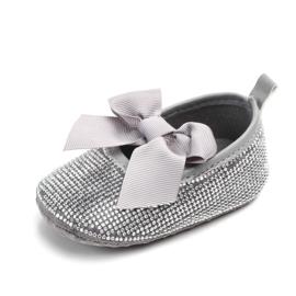 Zilveren ballerina's met steentjes
