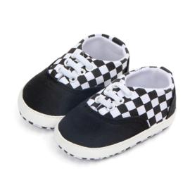 Zwarte Sneakers met elastische veters