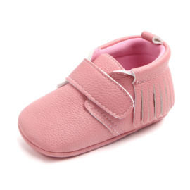Roze pu leren schoenen