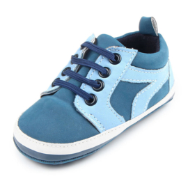 Blauwe enkelschoenen