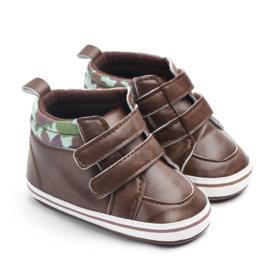 Bruine pu leren enkelschoenen