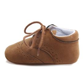 Bruine leren schoenen