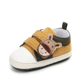 Gele sneakers met klittenband