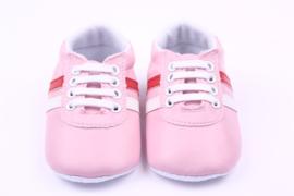 Roze pu leren sneakers