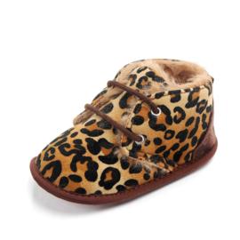 Luipaardprint gewatteerde schoenen